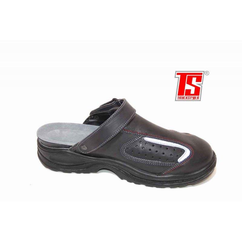 lkw sandalen trucker clogs schuhe mit stahlkappen sicherheitsschuhe gr e 40 schwarz. Black Bedroom Furniture Sets. Home Design Ideas