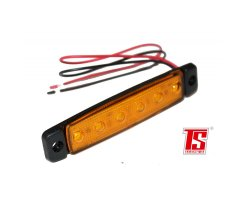 Flat LED side marker lights, orange 24V E-marked, NEW