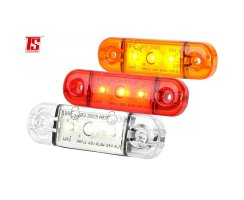 LED truck lateral clearance light, 12 / 24V, slim, extra...