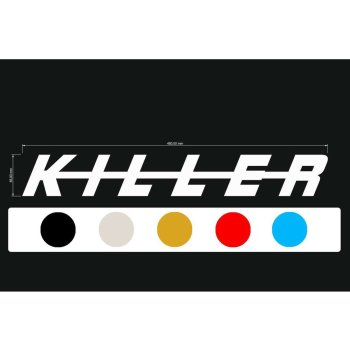 Aufkleber Decal KILLER-Serie Block