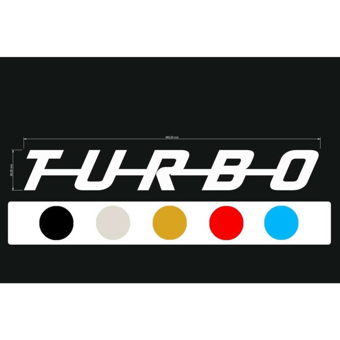Aufkleber Decal TURBO-Serie Block