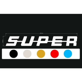 Aufkleber Decal SUPER-Serie Block