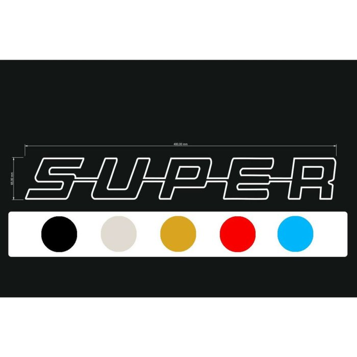 Aufkleber Decal SUPER-Serie Kontur Block
