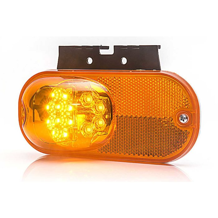 LED Multifunktionslampe mit Blinkfunktion orange 12-24 V