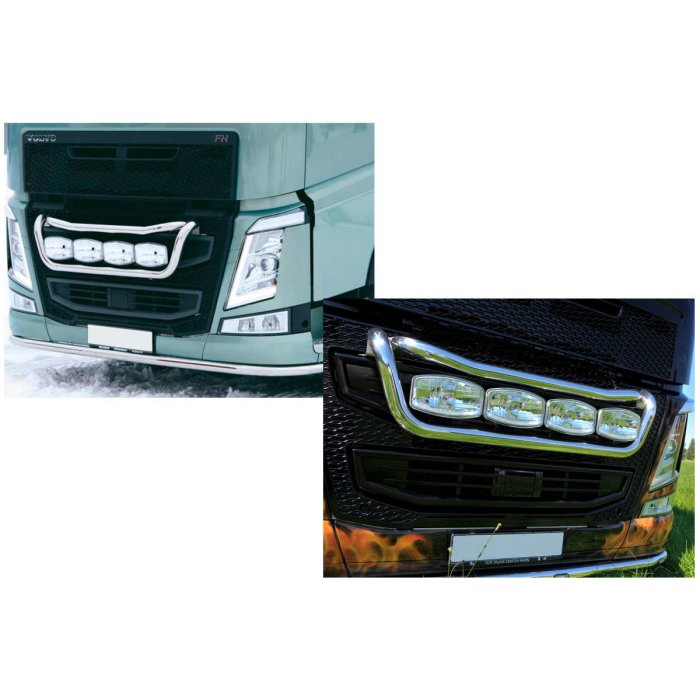 Suitable for Volvo*: FH4 (2013-...) Front light brackets tailor, stainless steel