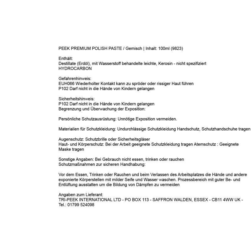 Bevorzugt PEEK High Performance Polish, 100ml Tube, Politur für Chrom VL33