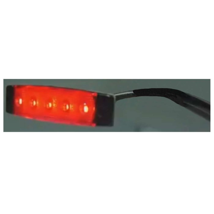 Flat LED side marker lamps, red 24V E-marked, NEW