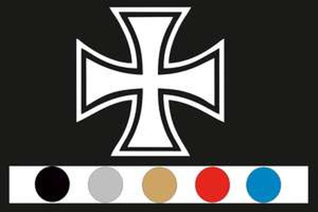 Aufkleber Für Trucker Eisernes Kreuz