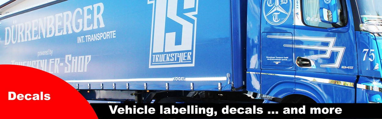 Stickers for lorry